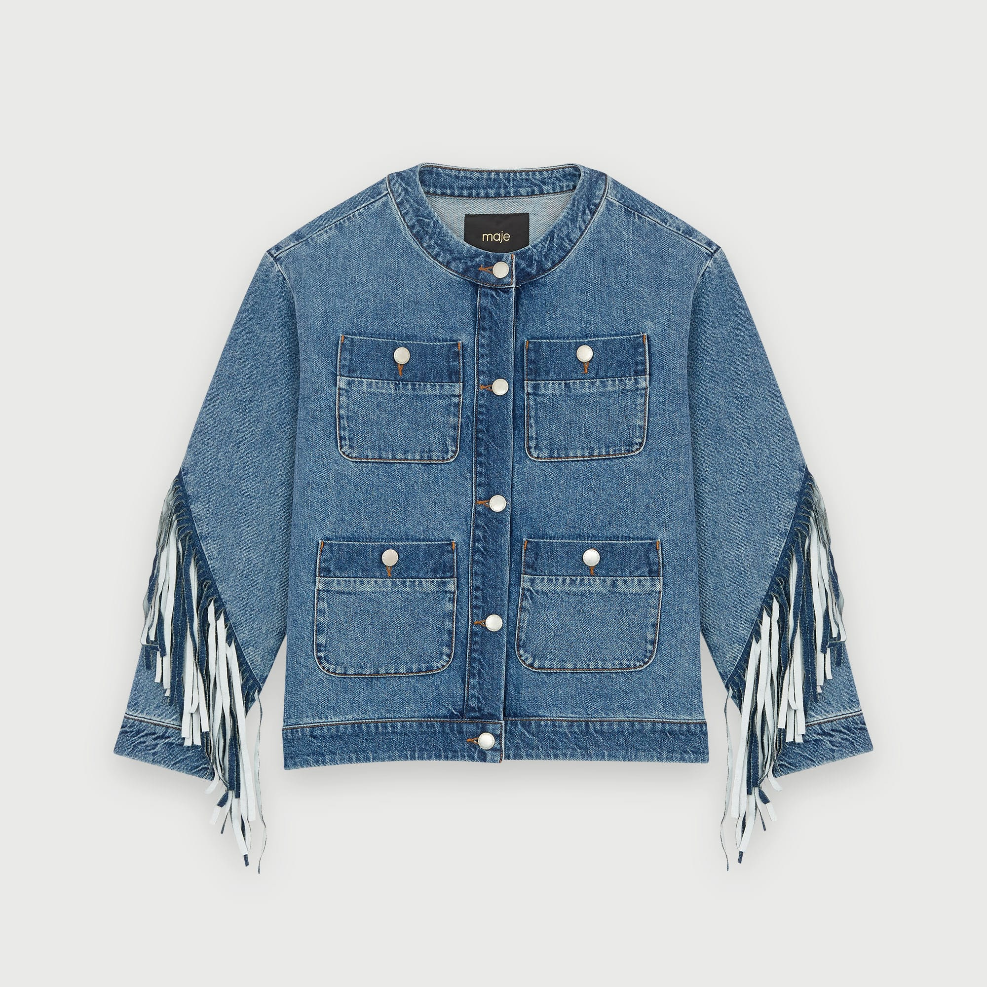 maje-denim-jacket-with-fringe