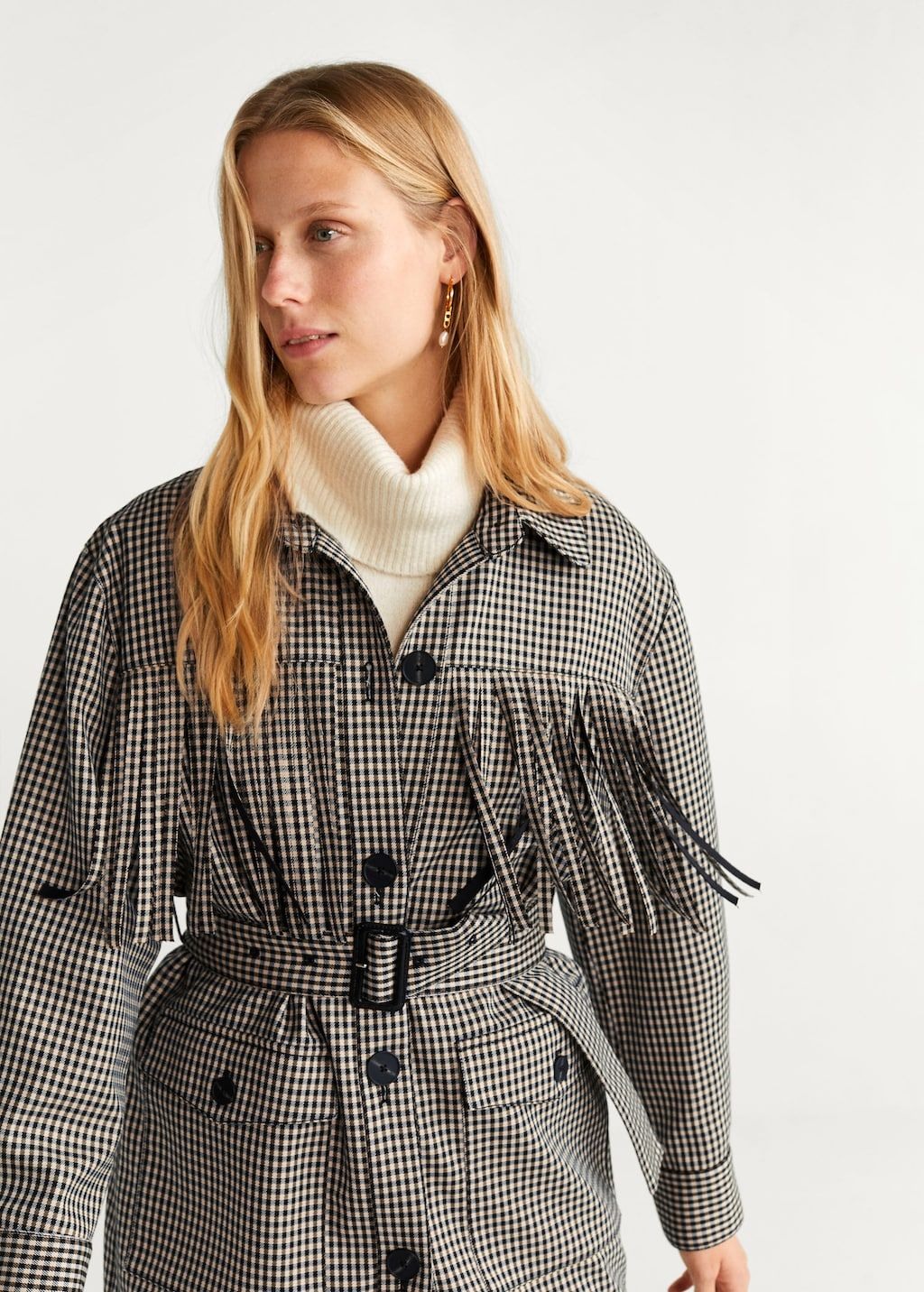 mango-prince-of-wales-trench-decorative-fringing