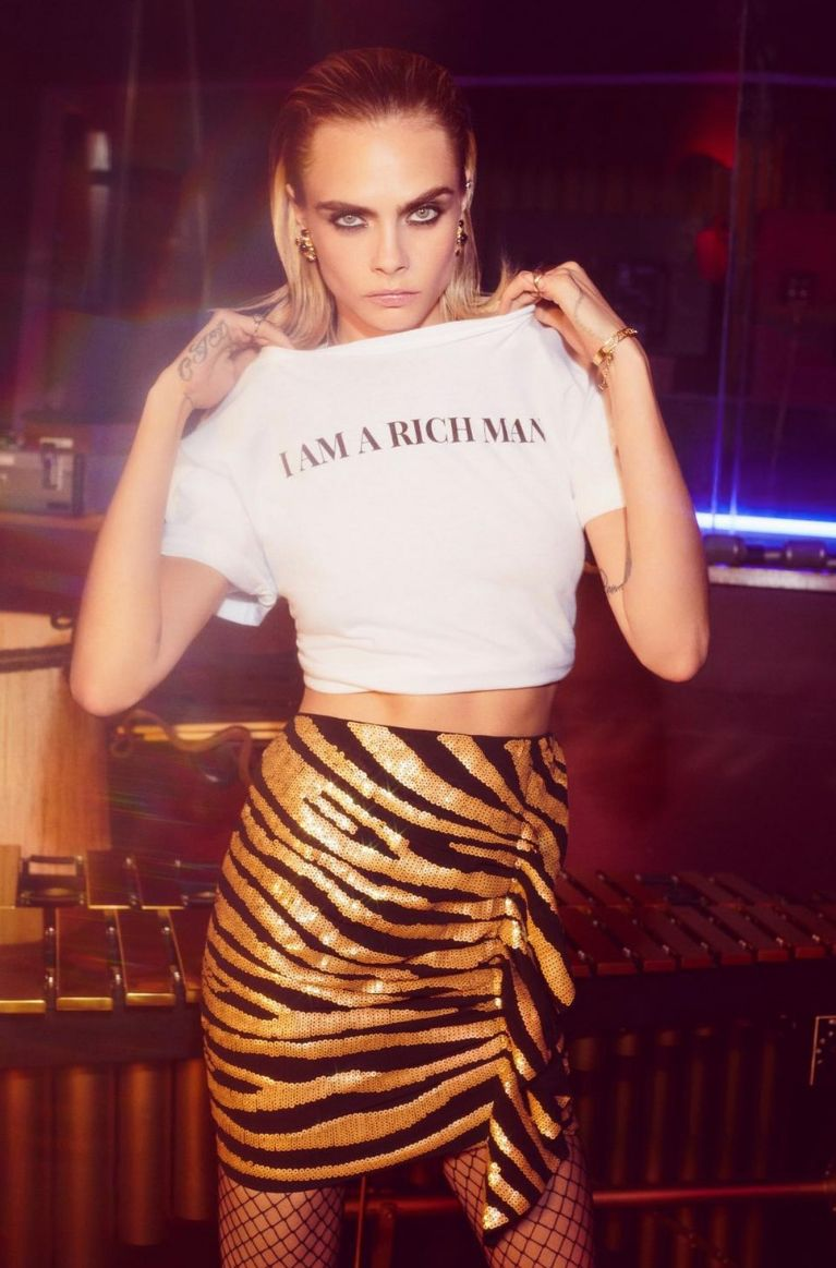 nasty-gal cara-delevingne-i-am-a-rich-man-relaxed-tee