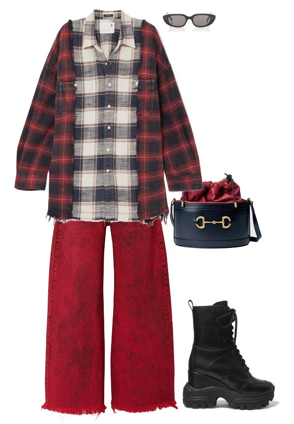 r13-oversized-frayed-checked-flannel-shirt-outfit-inspiration