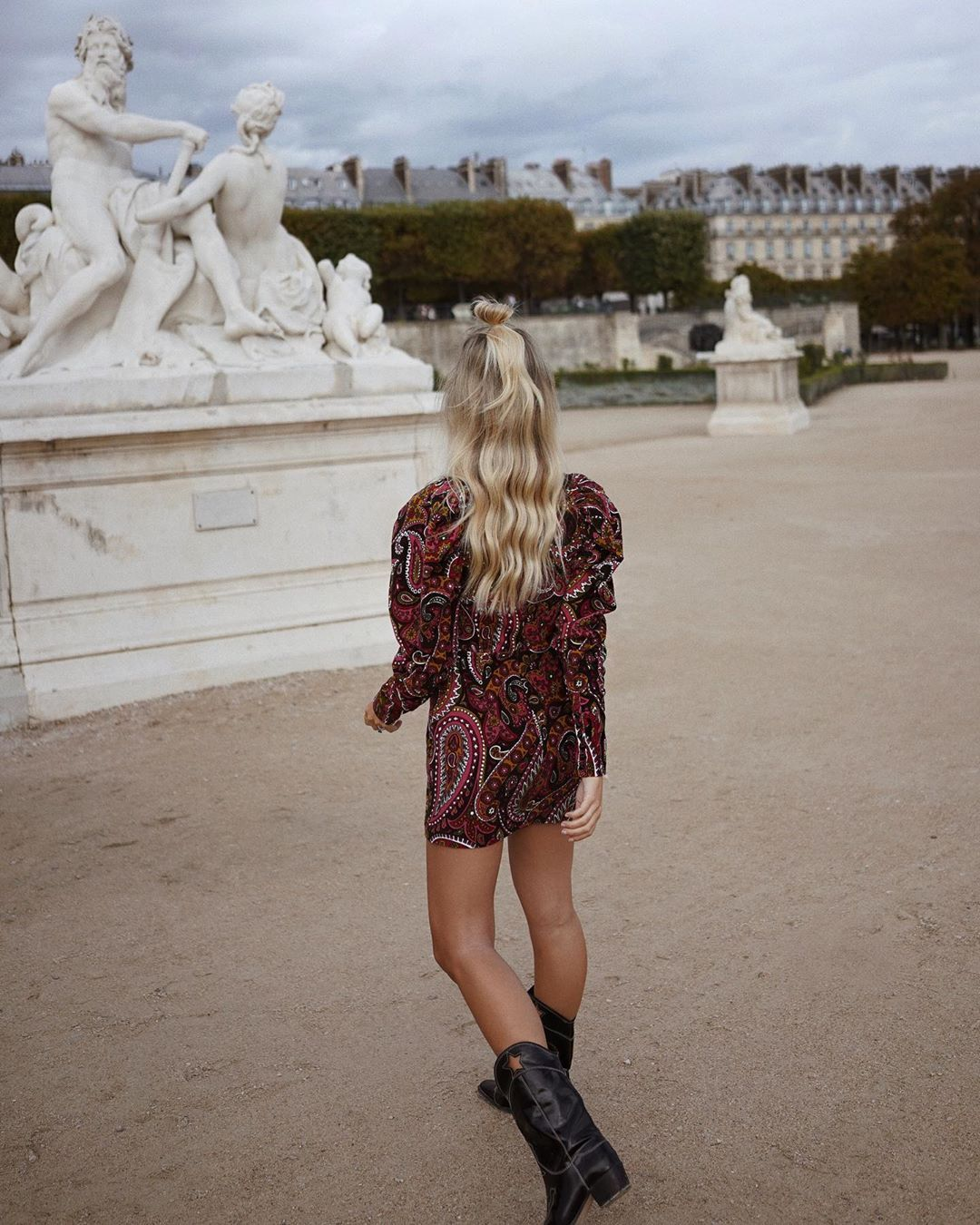 rotate-birger-christensen-paisley-print-cotton-velvet-mini-dress-saasha-burns-instagram