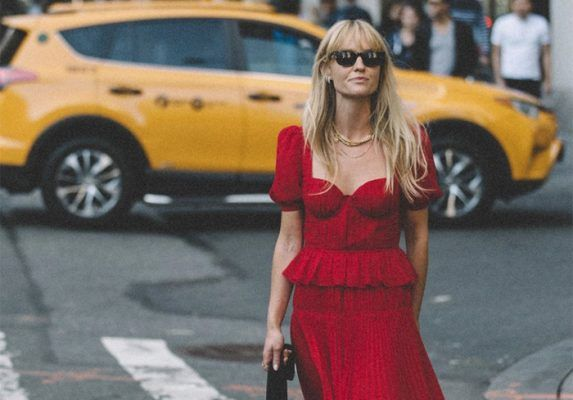Currently craving: a red dress (to be styled exactly like this)