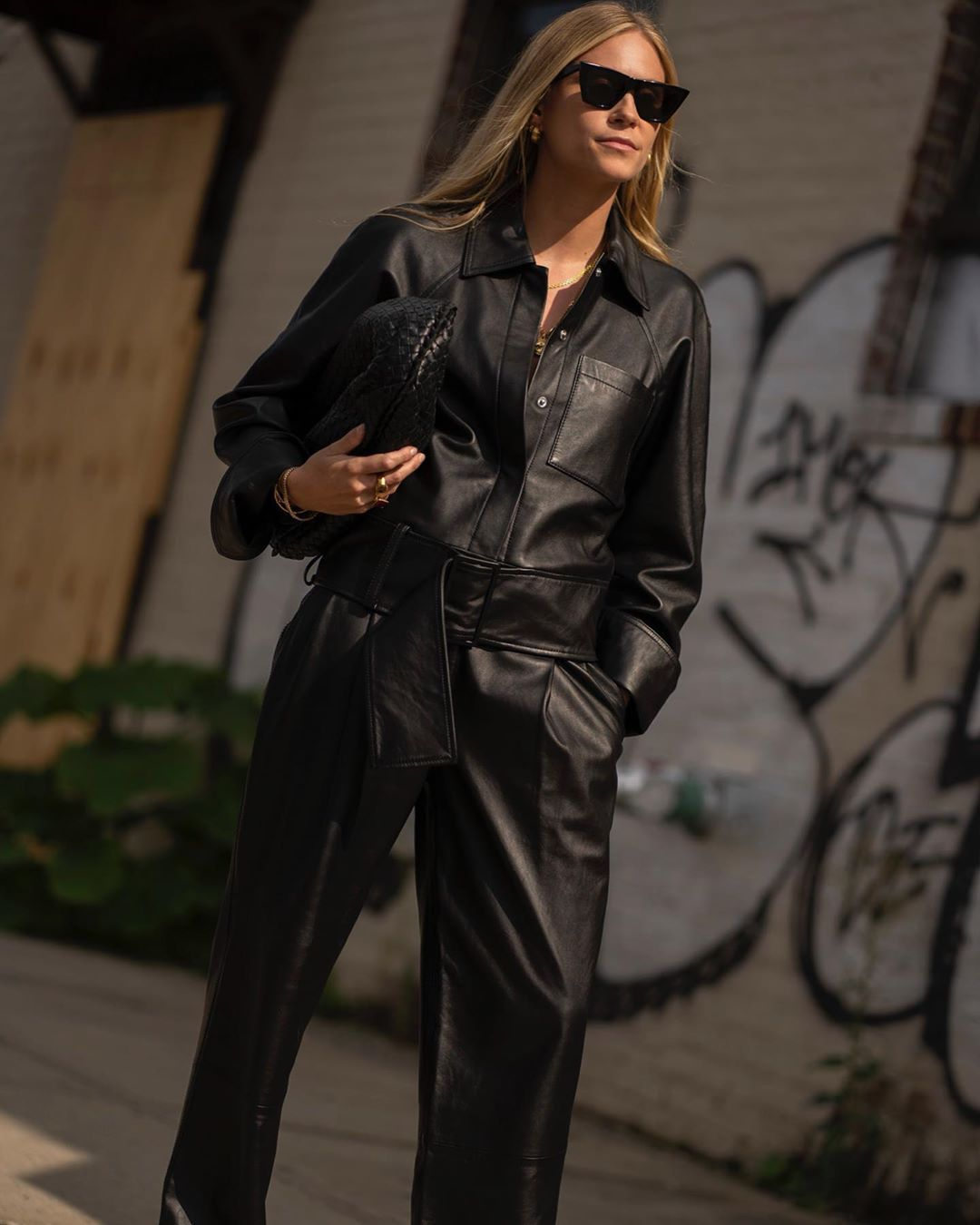 tine-andrea-black-leather-jumpsuit-outfit