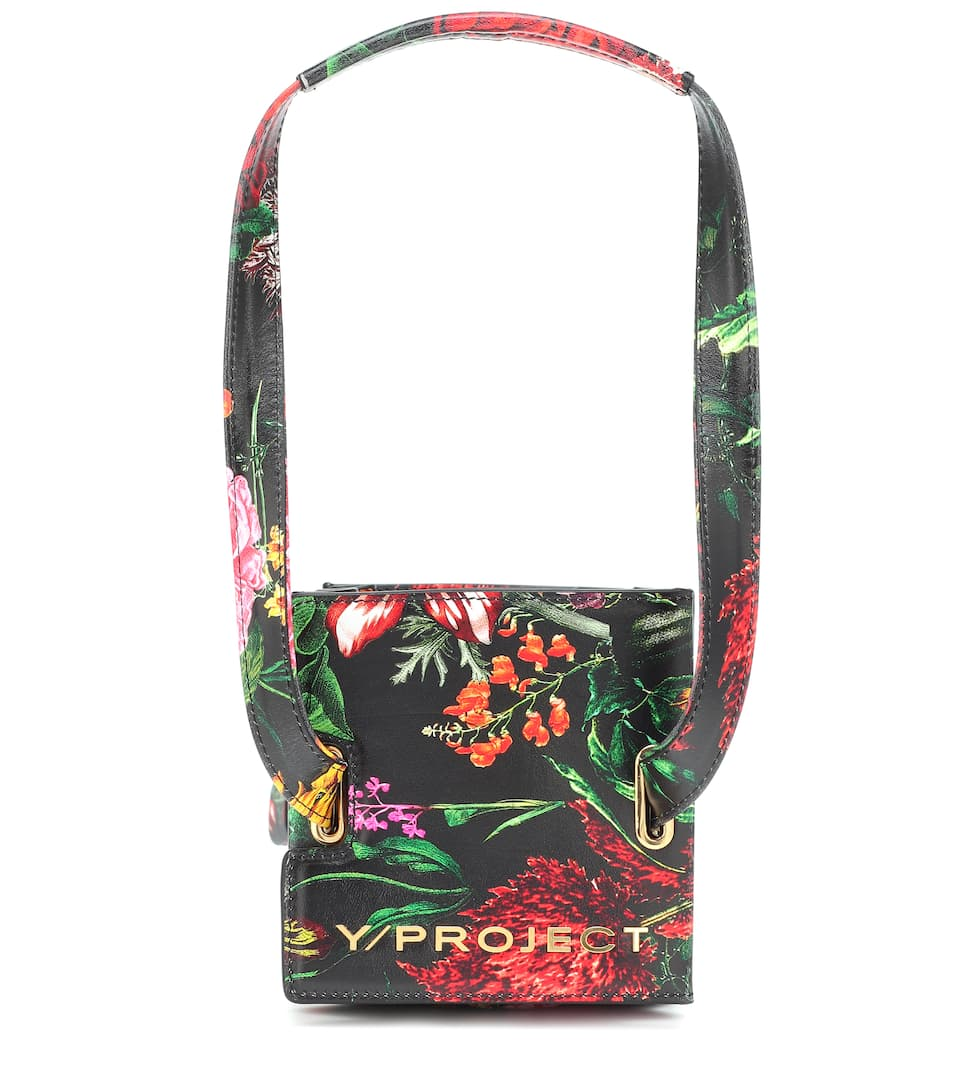 y-project-accordion-mini-floral-leather-tote