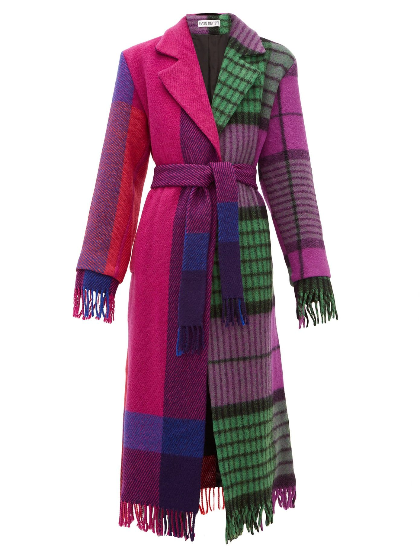 Rave-Review-Lola-single-breasted-upcycled-blanket-wool-coat-multicolored