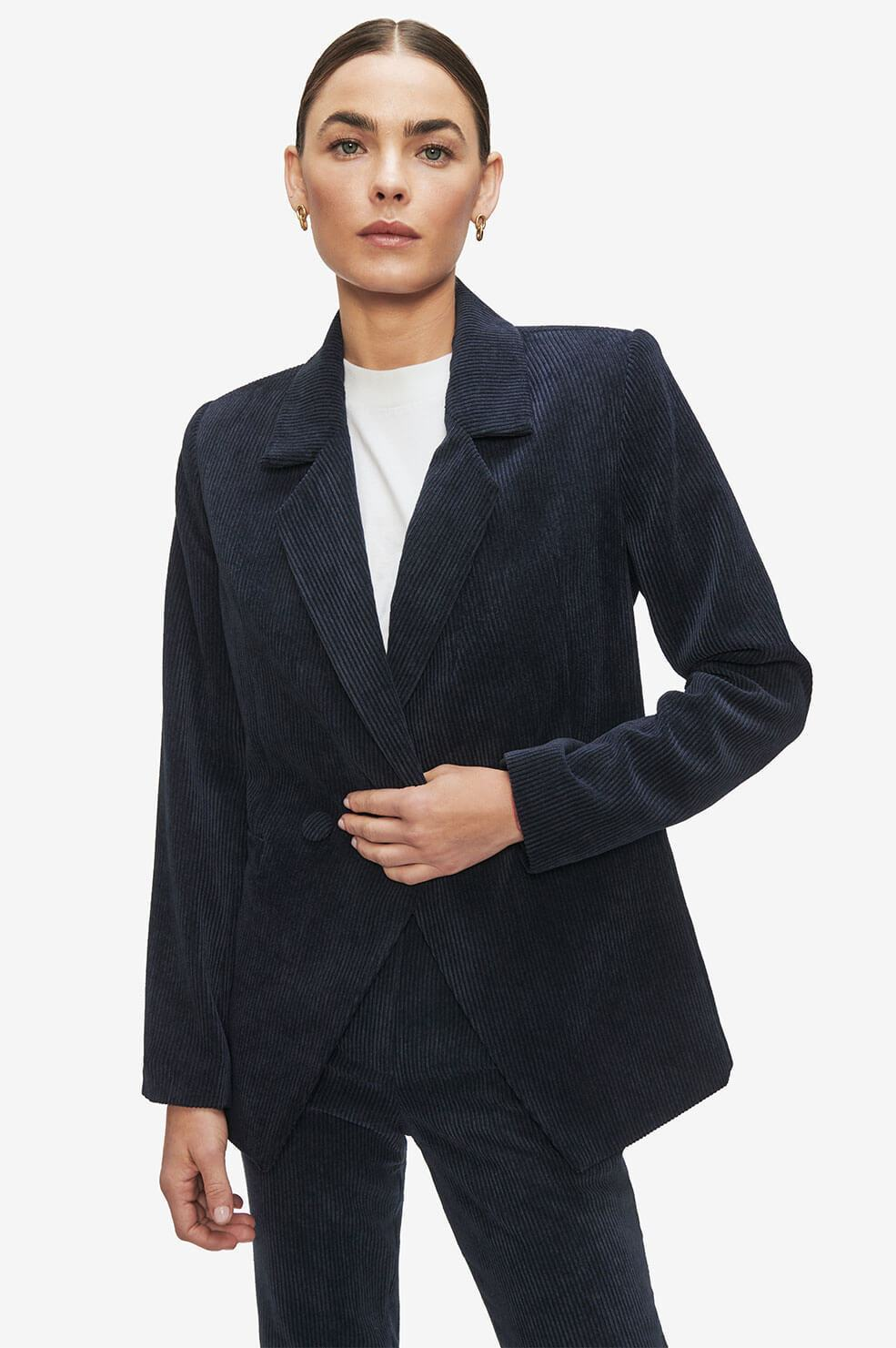 anine-bing-grace-corduroy-blazer-midnight-blue