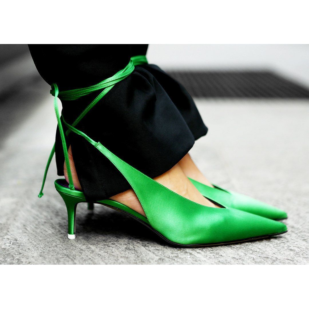 attico-caterina-satin-slingbacks-green-sale-moda-operandi