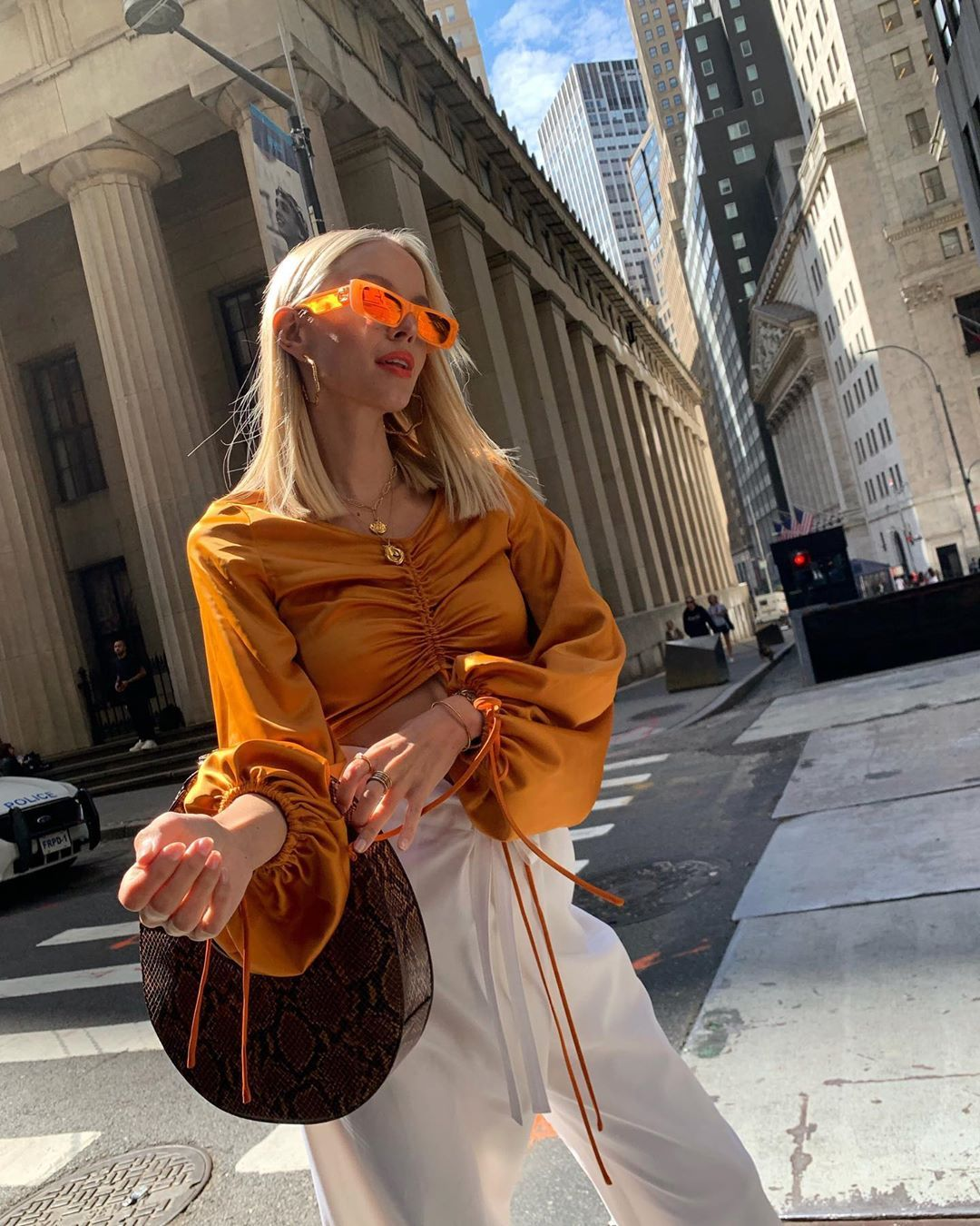 leonie-hanne-gucci-fluorescent-orange-rectangular-sunglasses-instagram