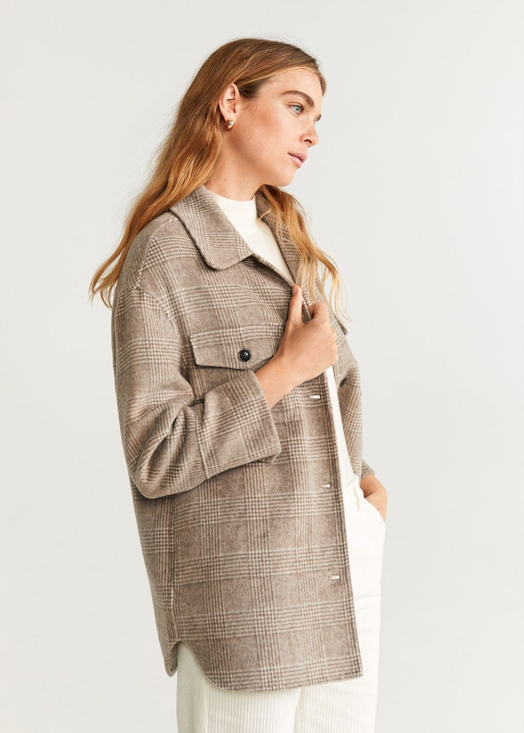 mango-checkered-wool-blend-jacket