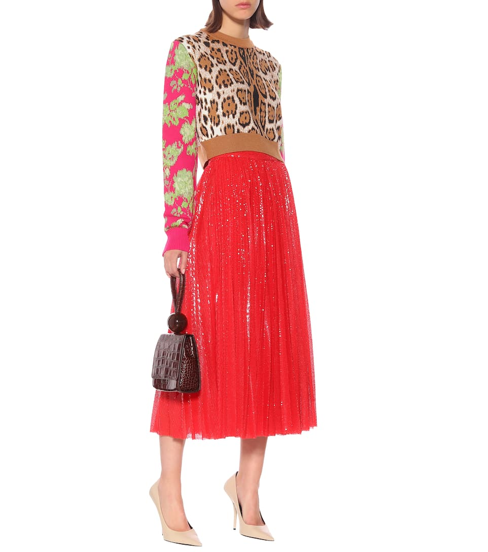 msgm-sequined-pleated-midi-skirt-outfit