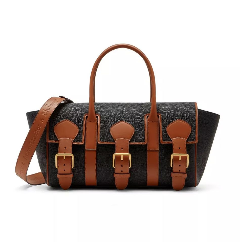 mulberry-acne-studios-buckled-bayswater-black-tan-scotchgrain