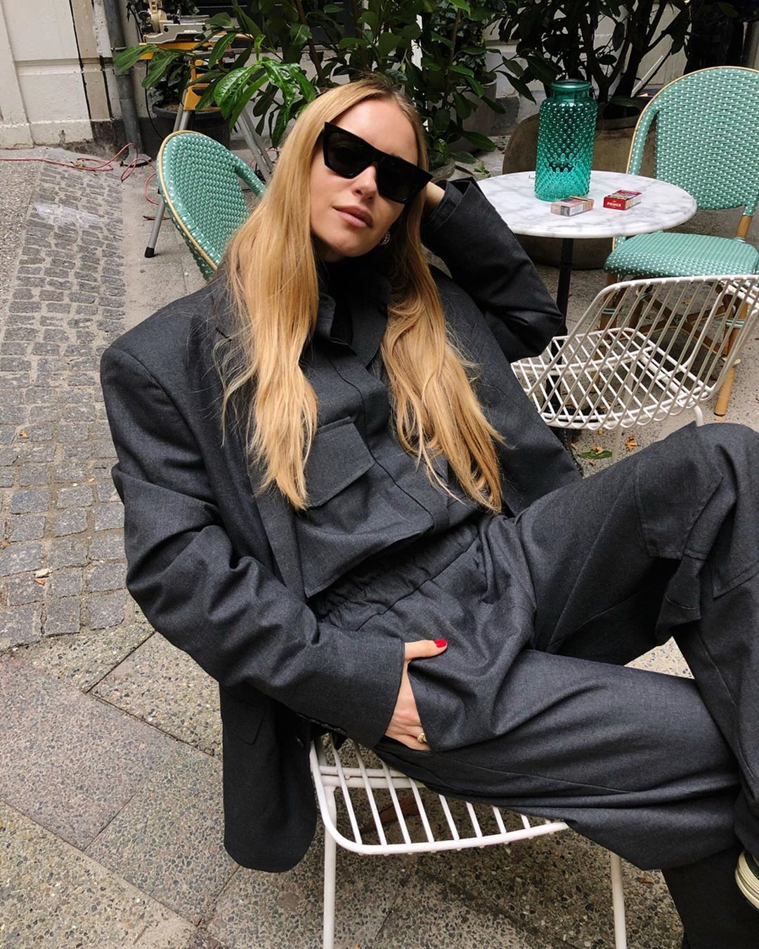 pernille-teisbaek-grey-oversized-suit-fall-instagram