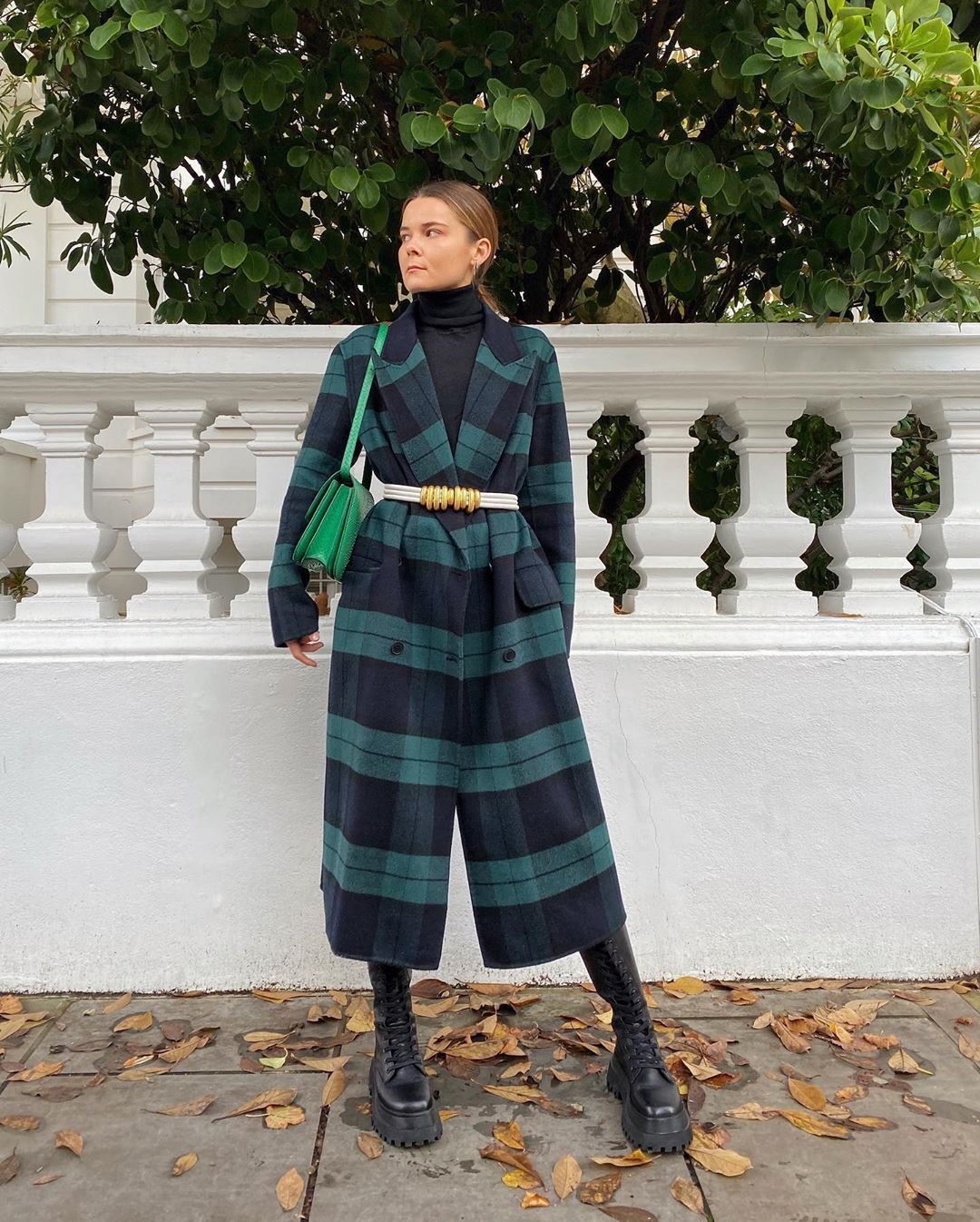 rikke-krefting-sandro-checked-coat-instagram