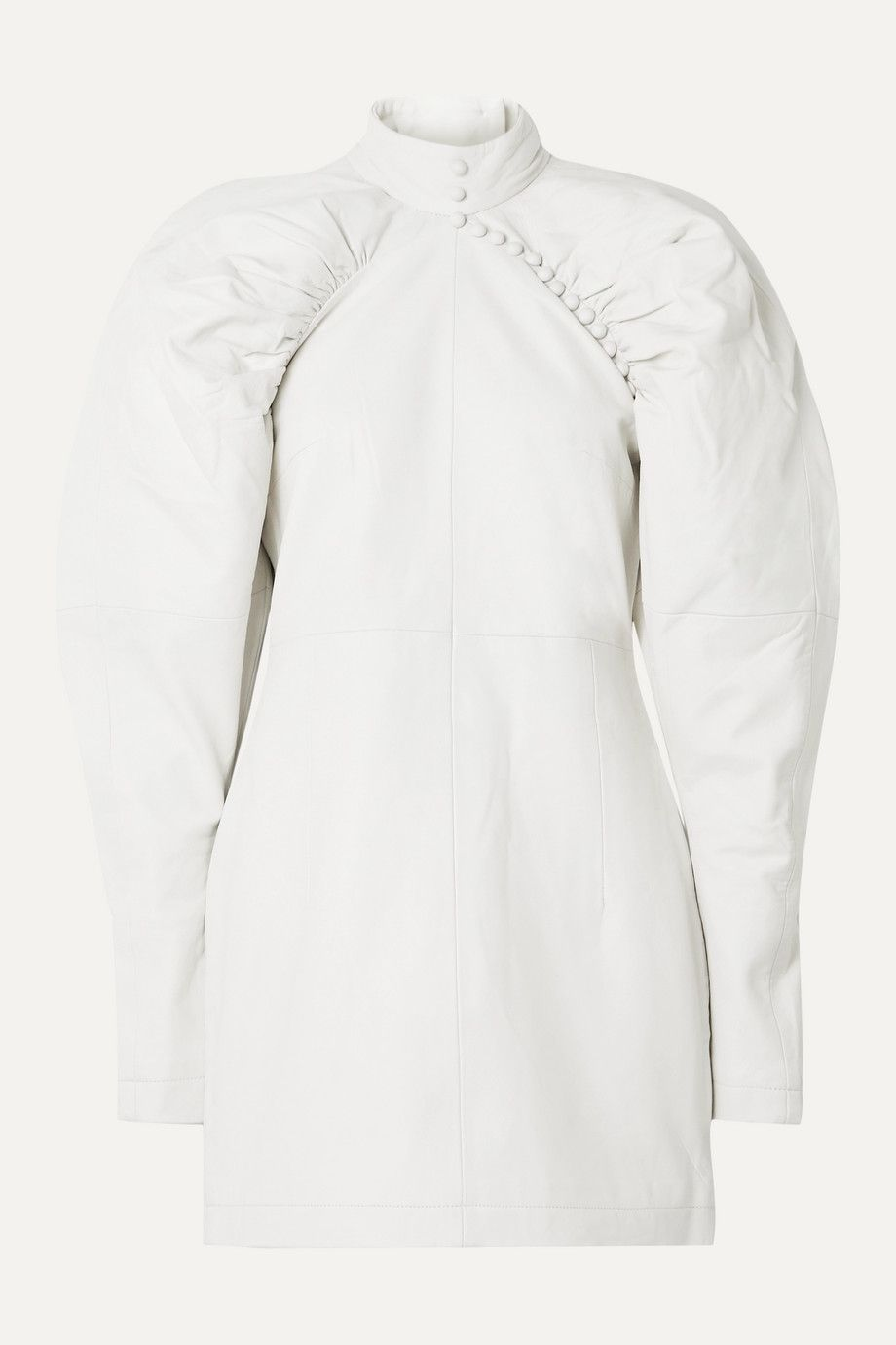 rotate-birger-christensen-kim-button-detailed-white-leather-mini-dress