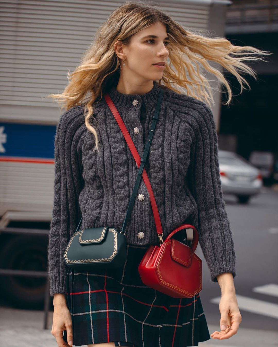 veronika-heilbunner-ganni-cable-knit-cropped-cardigan-fall-2019-outfit-instagram