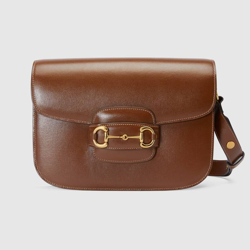 gucci-1955-horsebit-shoulder-bag-brown-leather