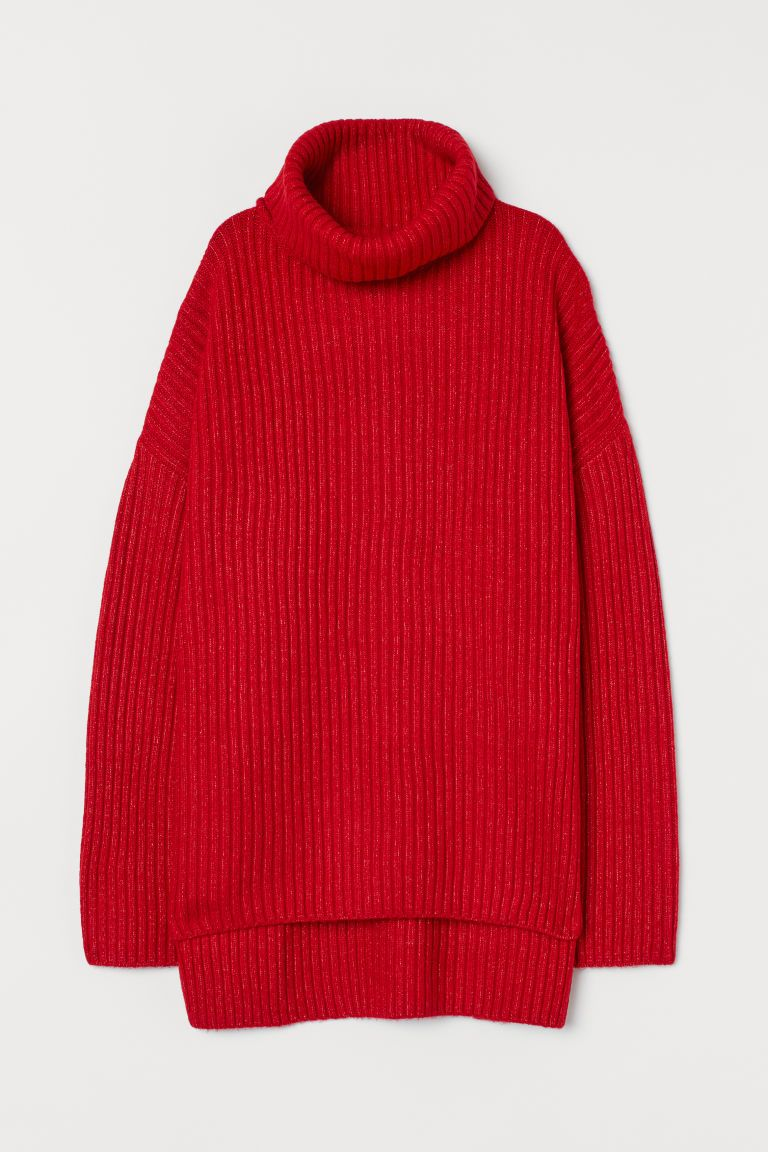 hm-rib-knit-turtleneck-sweater-red