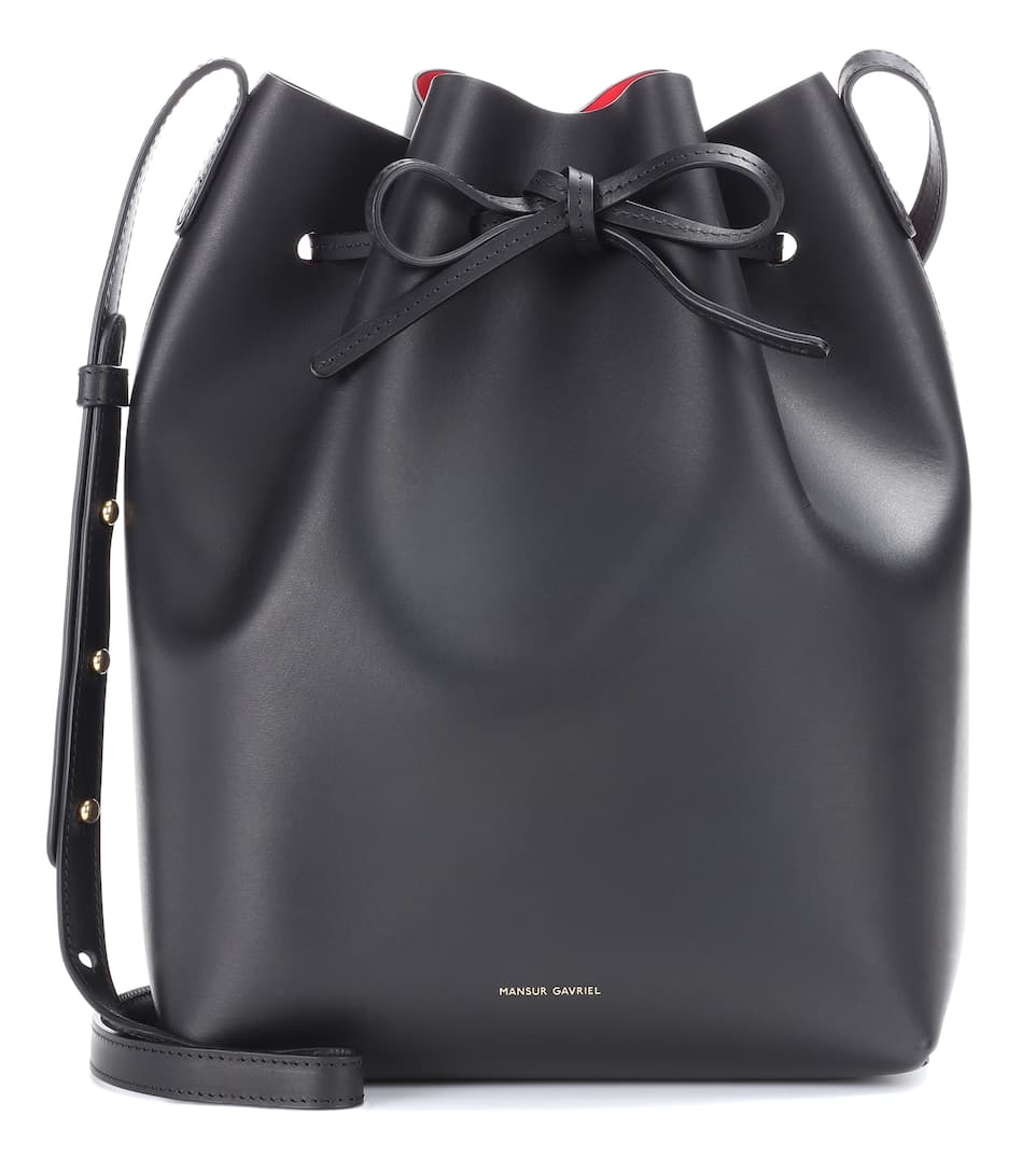 mansur-gavriel-mansur-gavriel-black-leather-bucket-bag