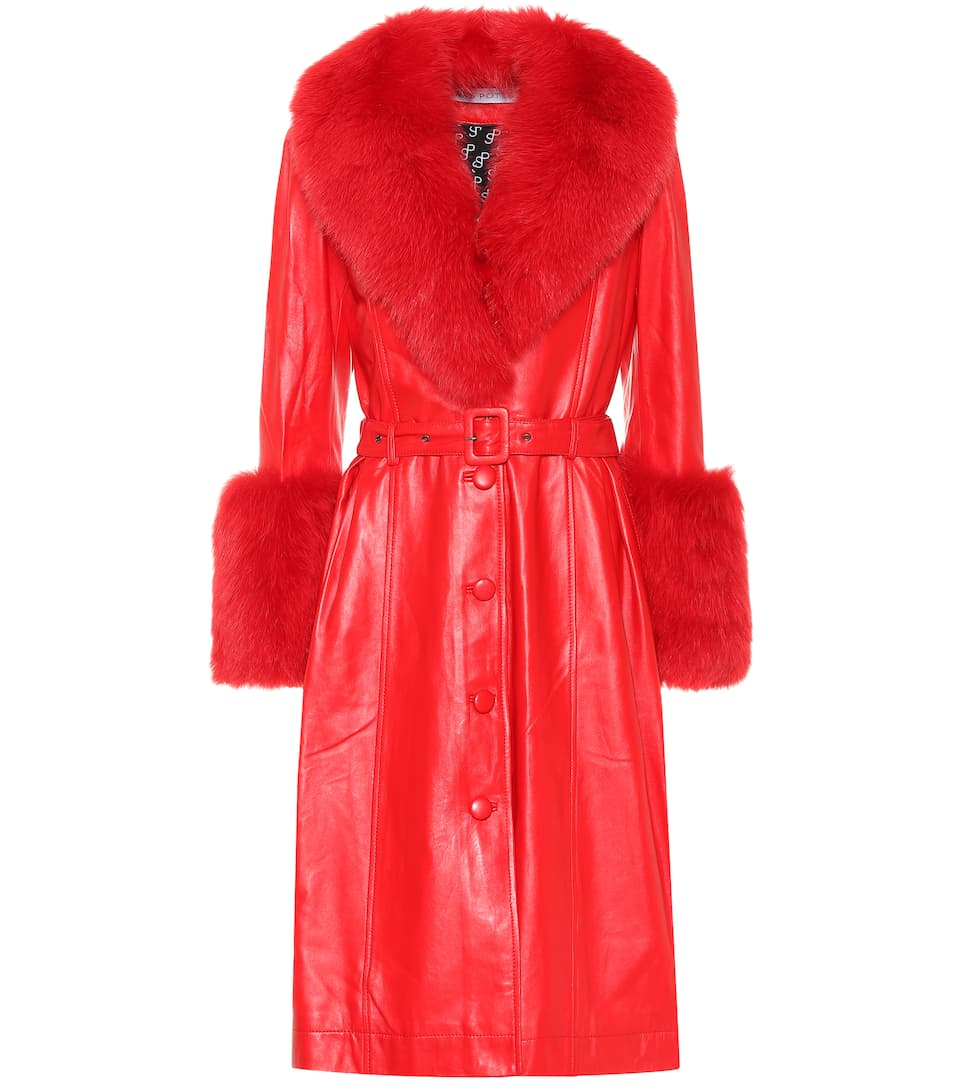 saks-potts-foxy-fur-trimmed-leather-coat-red
