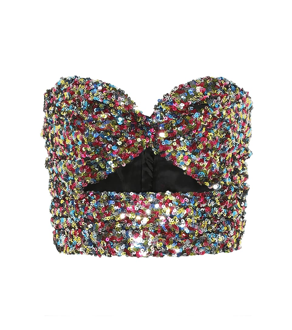 the-attico-sequined-bustier-top