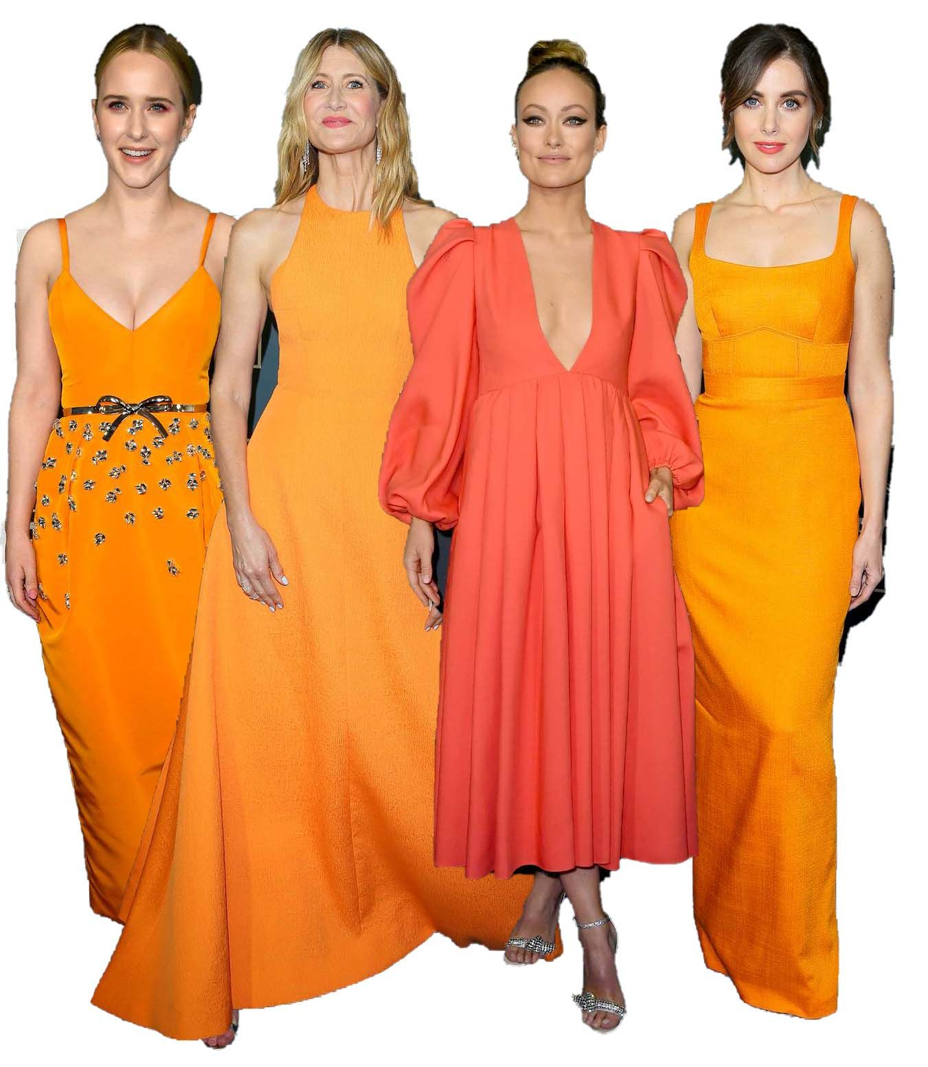 critics-choice-awards-2020-orange-gowns-red-carpet-trend