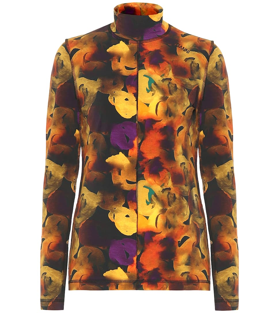 ganni-watercolour-floral-print-rollneck