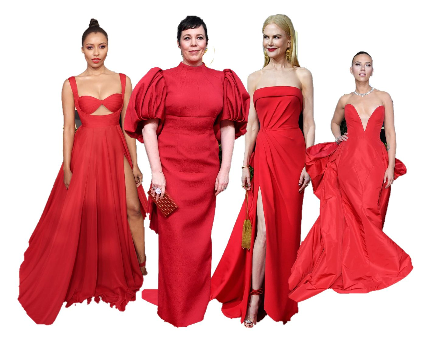 red-gowns-golden-globe-awards-2020