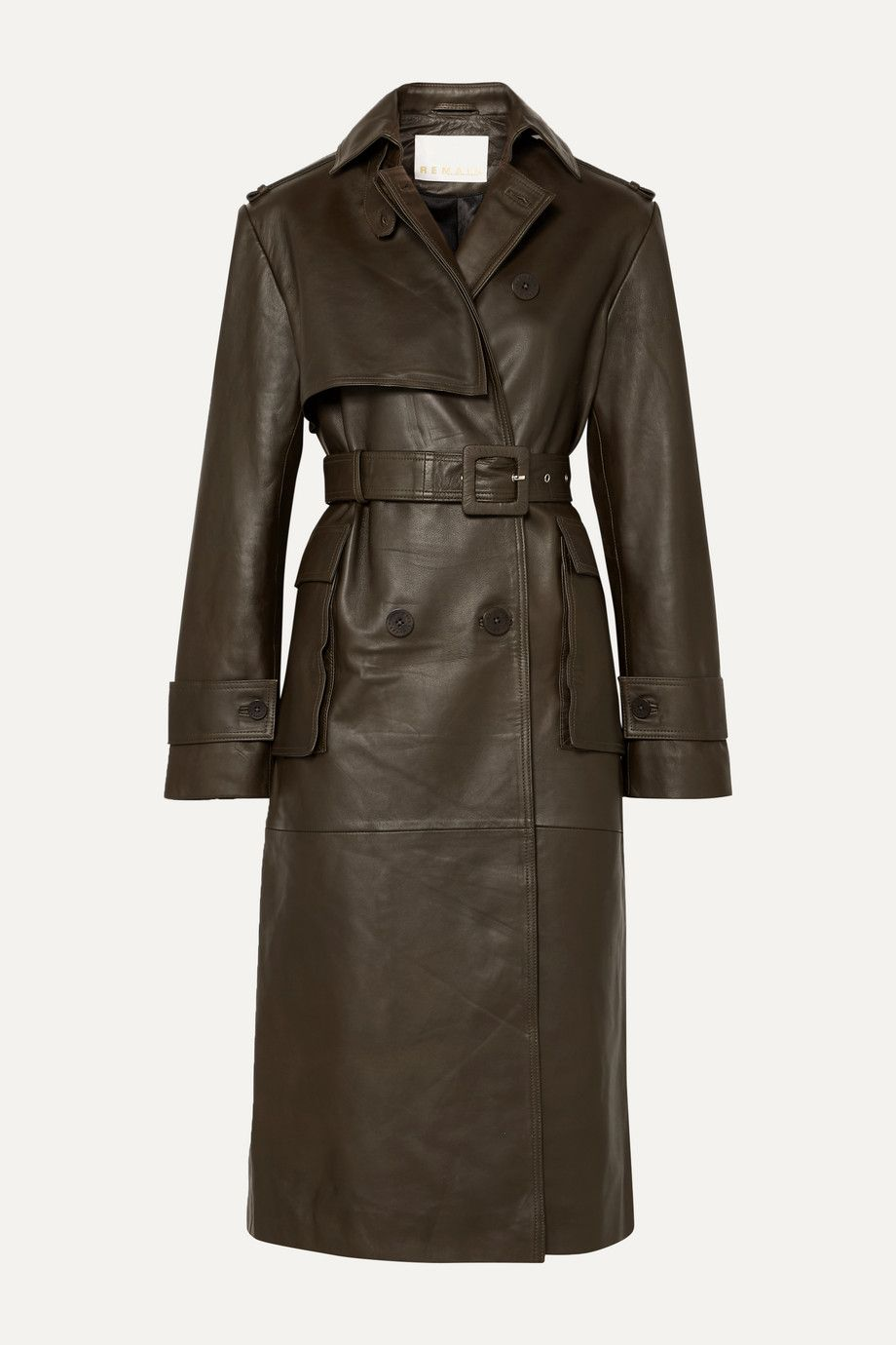 remain-birger-christensen-pirello-belted-leather-trench-coat-army-green