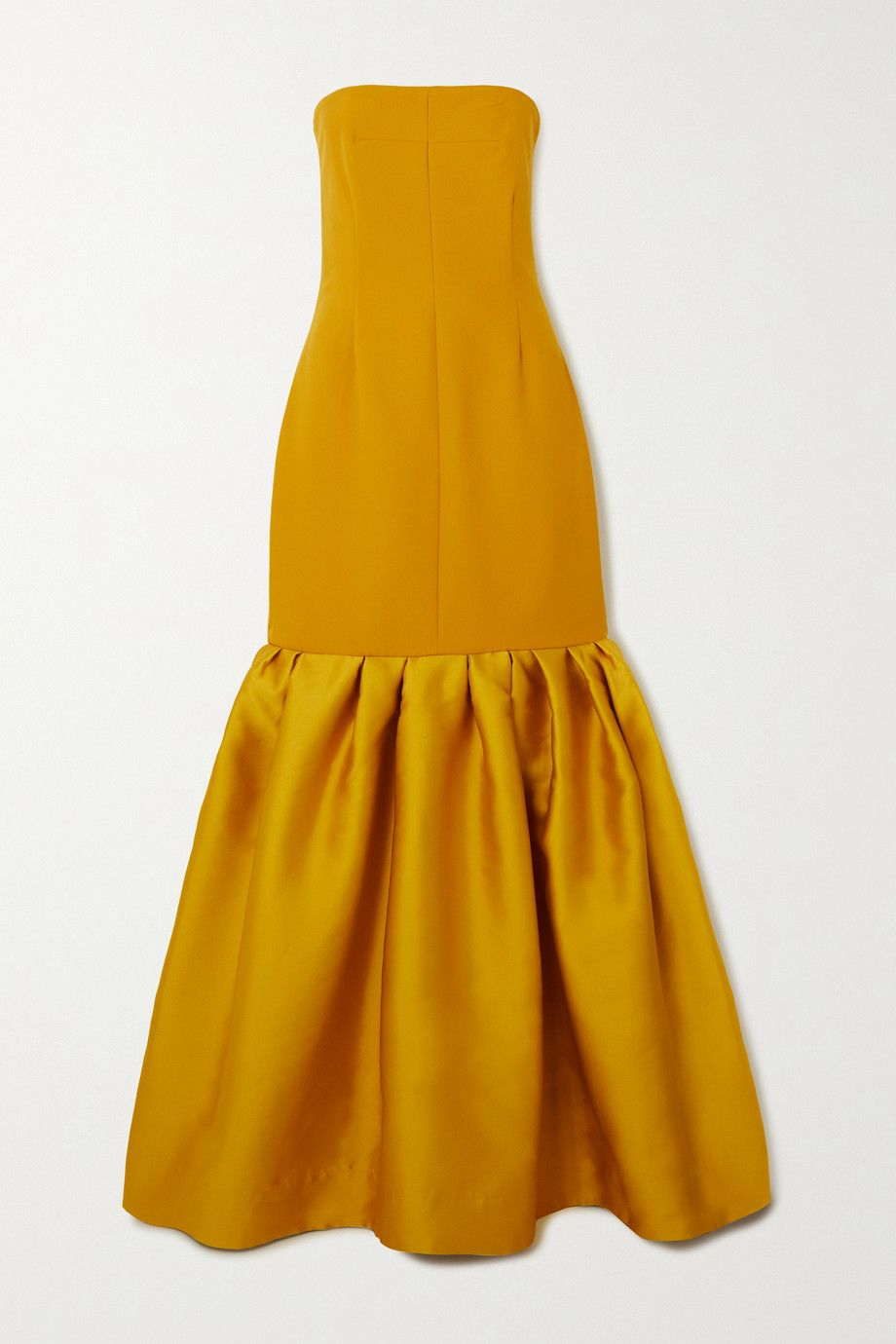 solace-london-ari-strapless-ruffled-crepe-and-satin-gown