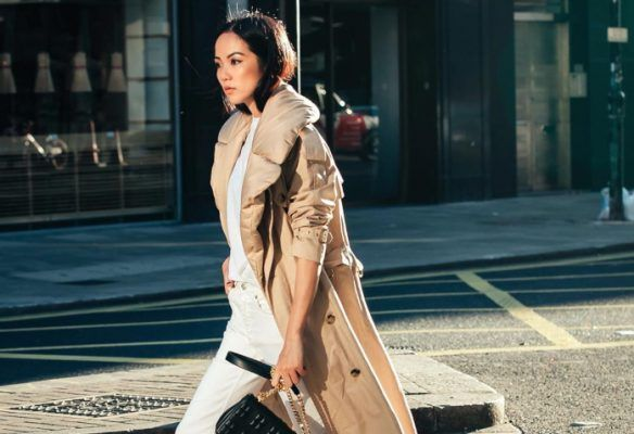 How to style white jeans for winter