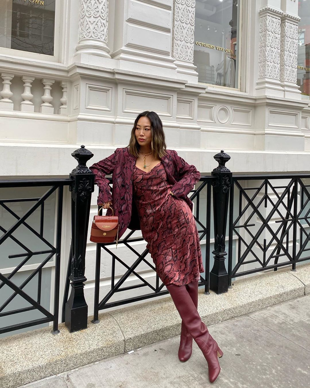 aimee-song-lagence-snake-print-outfit-new-york-fashion-week-fall-2020-street-style
