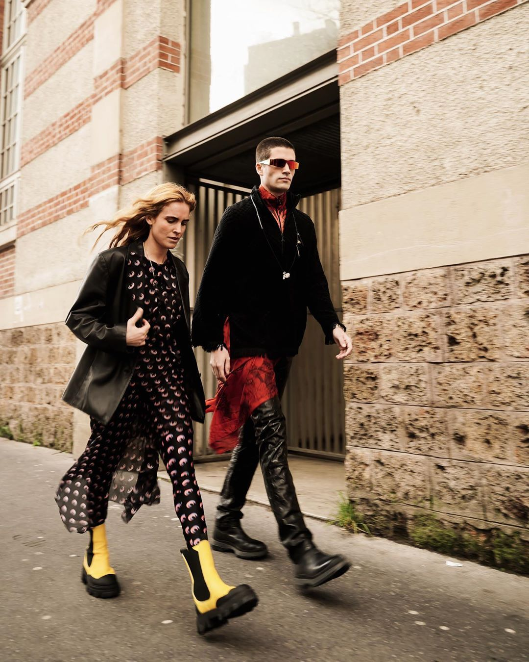 blanca-miro-yellow-leather-ankle-boots-rubber-sole-paris-street-style