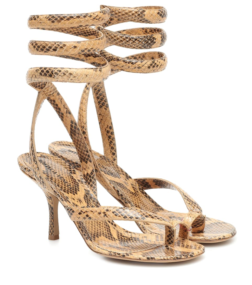 bottega-veneta-snake-effect-leather-sandals-with-spiral-ankle-strap