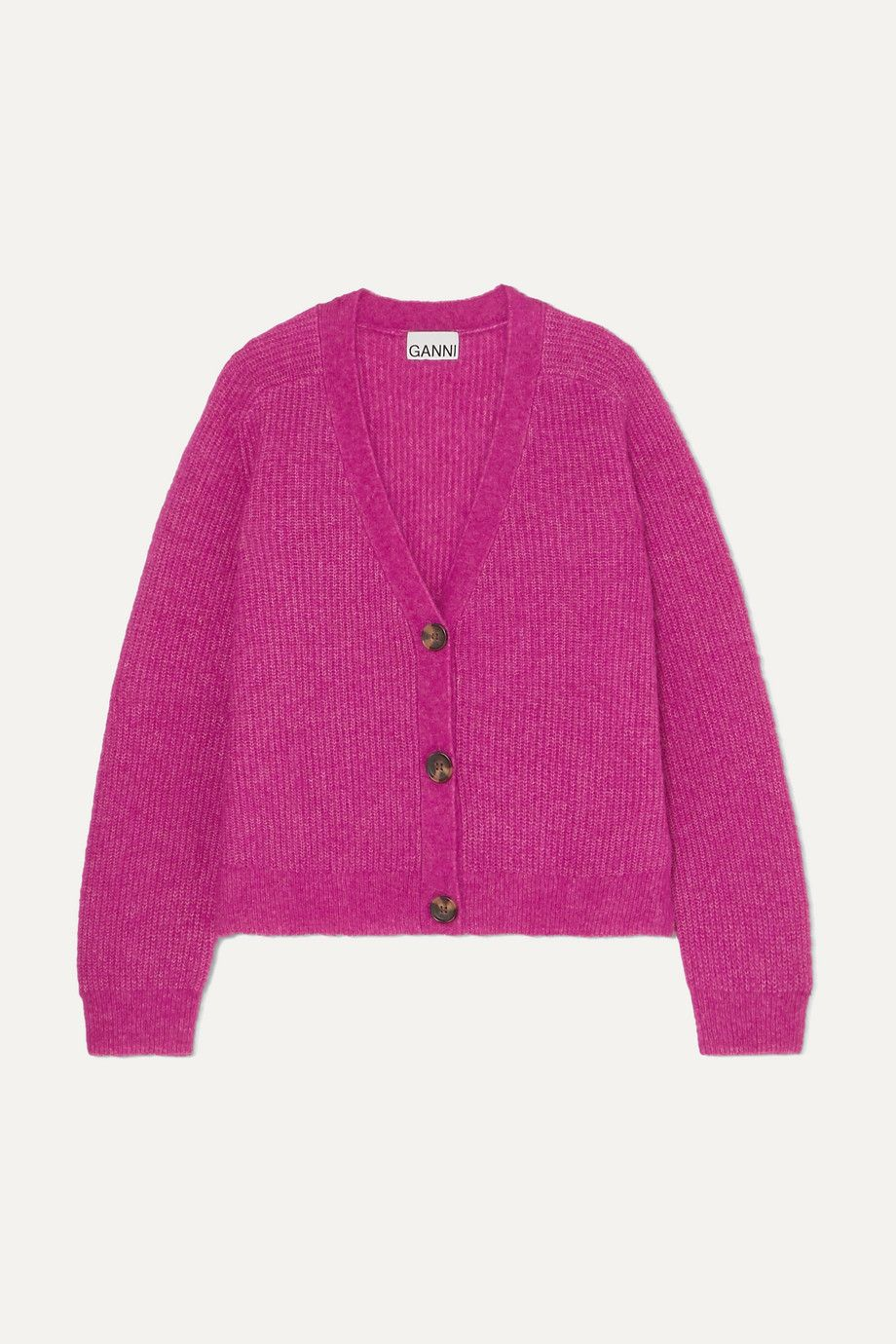 ganni-ribbed-knit-cardigan