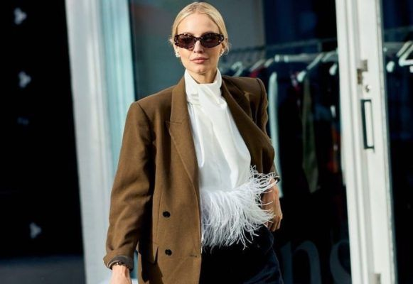 Wear an oversized blazer over anything, and you'll instantly look cooler