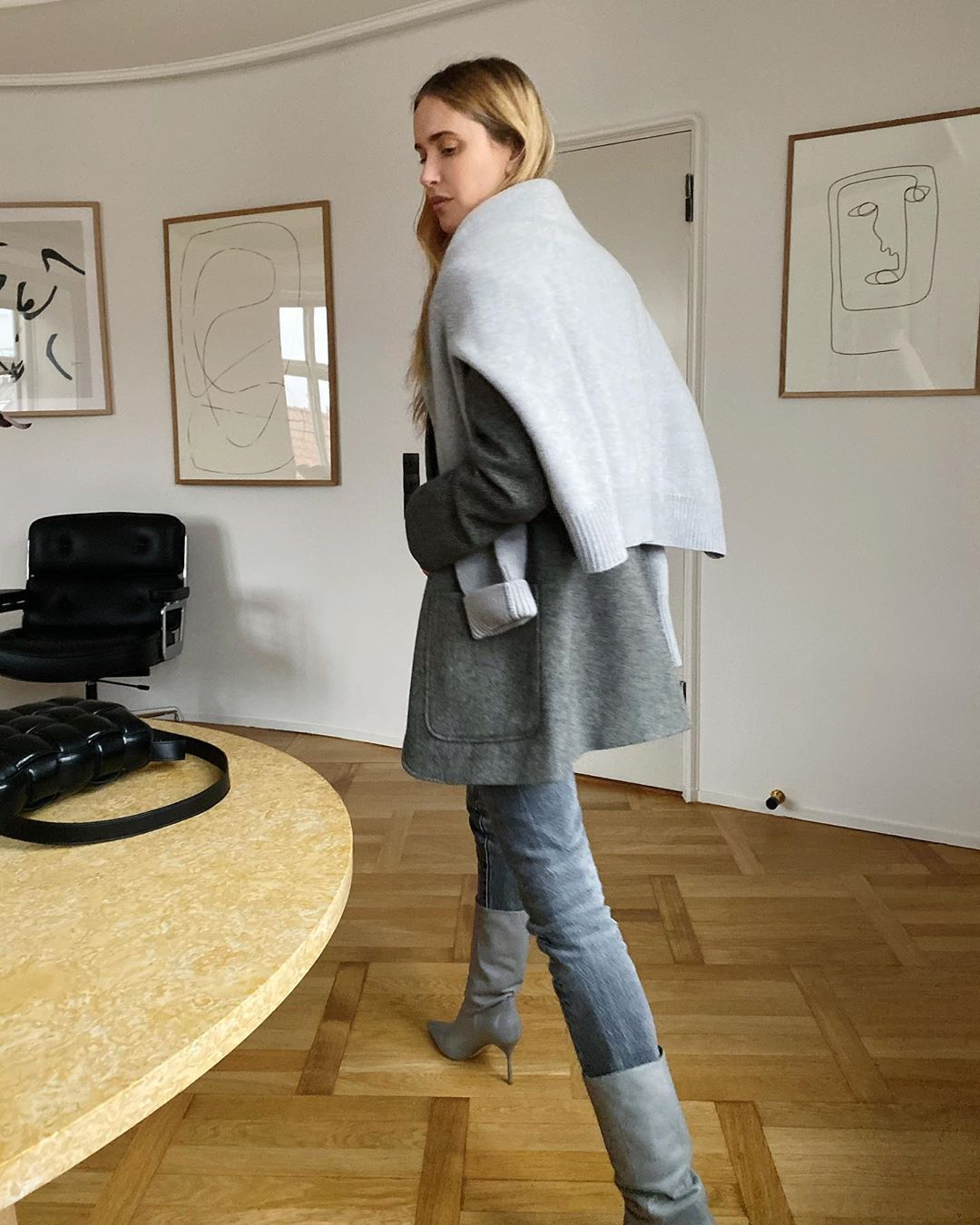 pernille-teisbaek-miu-miu-gray-leather-boots-instagram