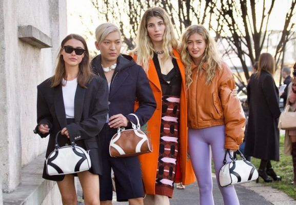 What did cool girls wore to the Prada Fall 2020 show?