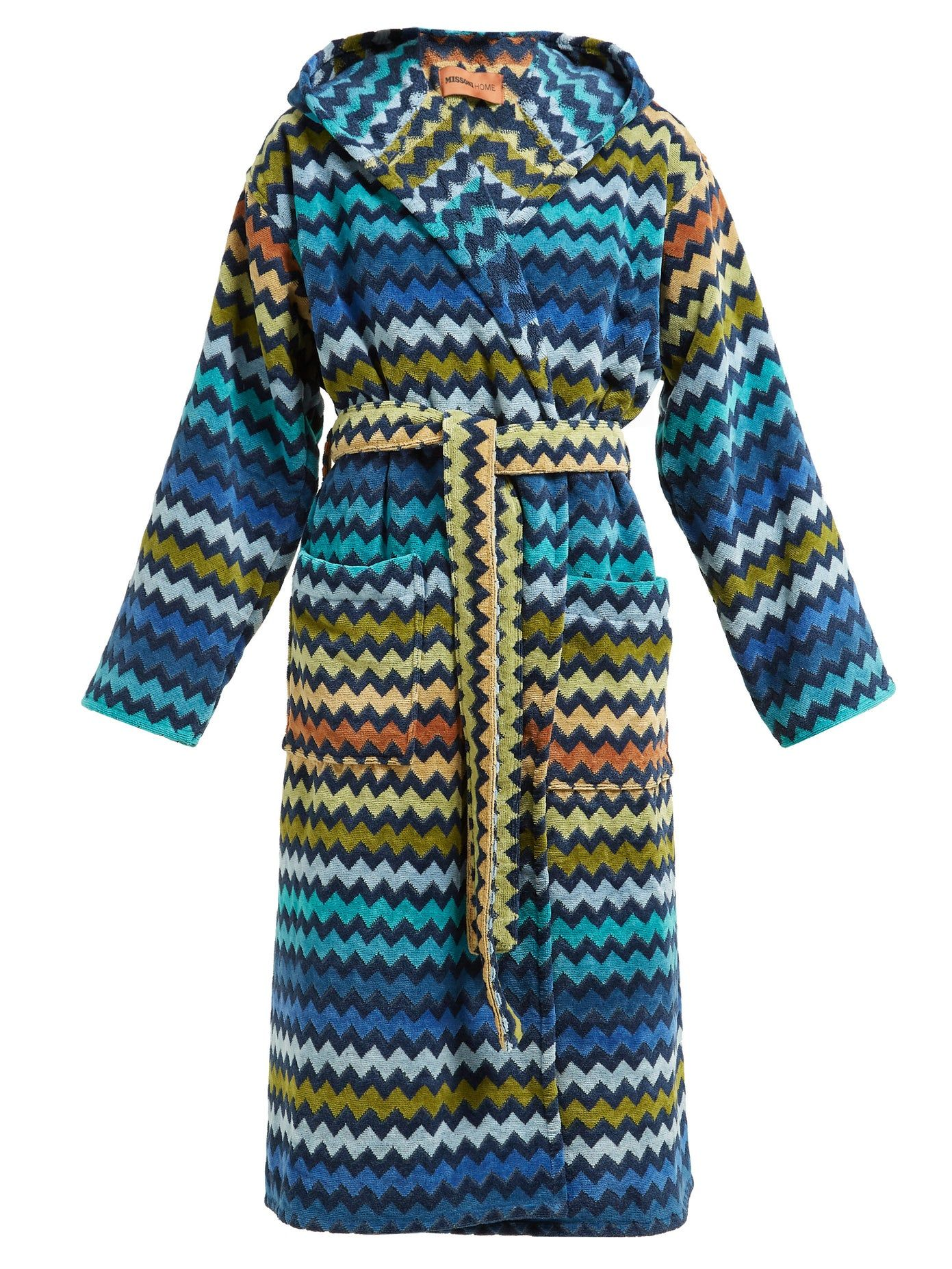 Missoni-Home-Warner-chevron-striped-cotton-terry-hooded-robe