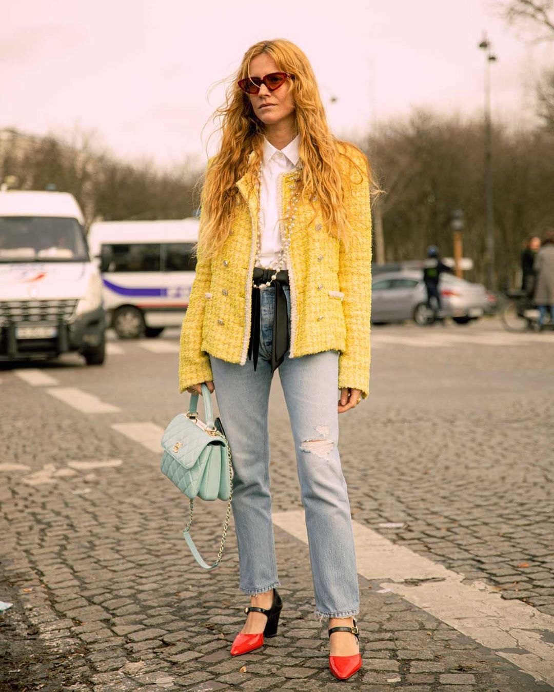 blanca-miro-chanel-tweed-jacket-yellow