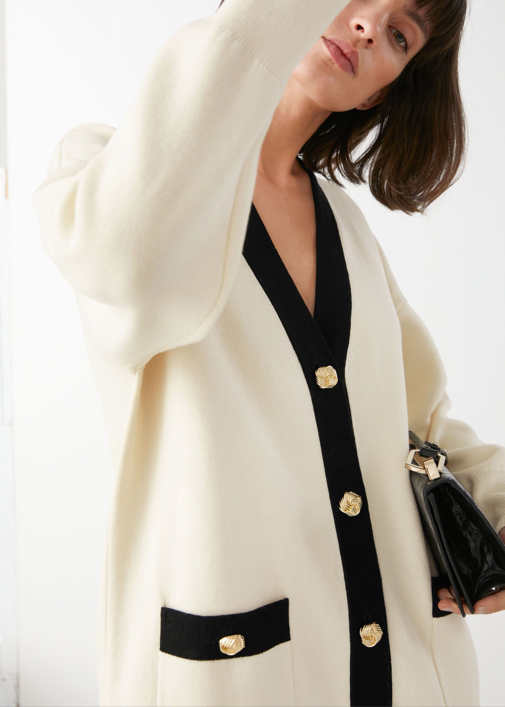 other-stories-oversized-gold-button-cardigan
