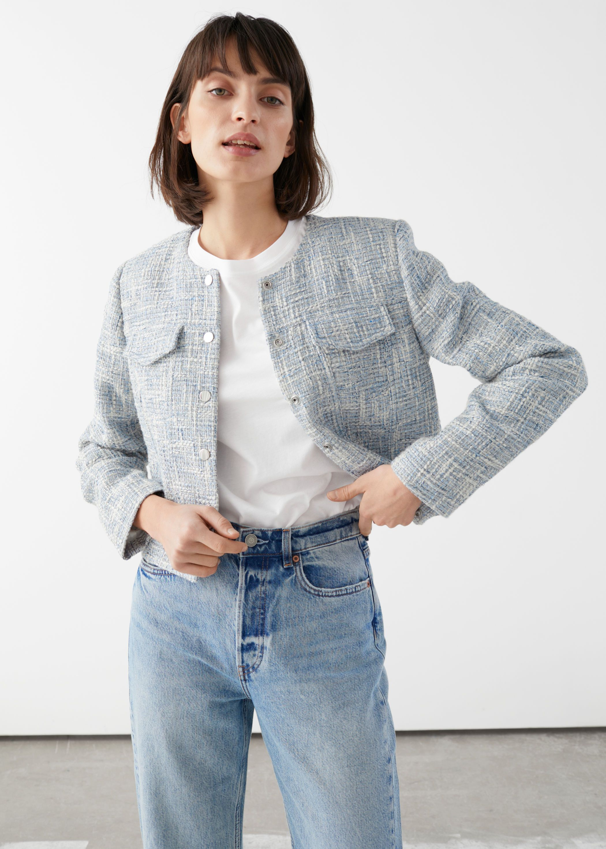 other-stories-tailored-tweed-jacket-blue
