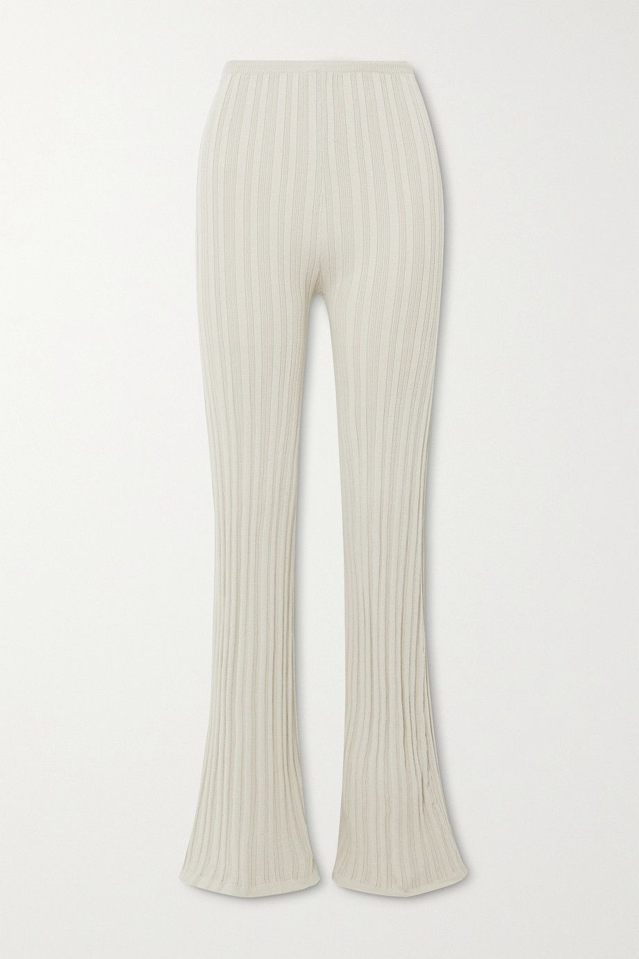 the-line-by-k-daisy-ribbed-knit-flared-pants