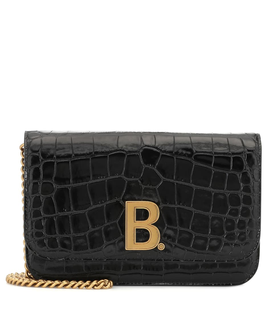 balenciaga-b-croc-effect-leather-shoulder-bag
