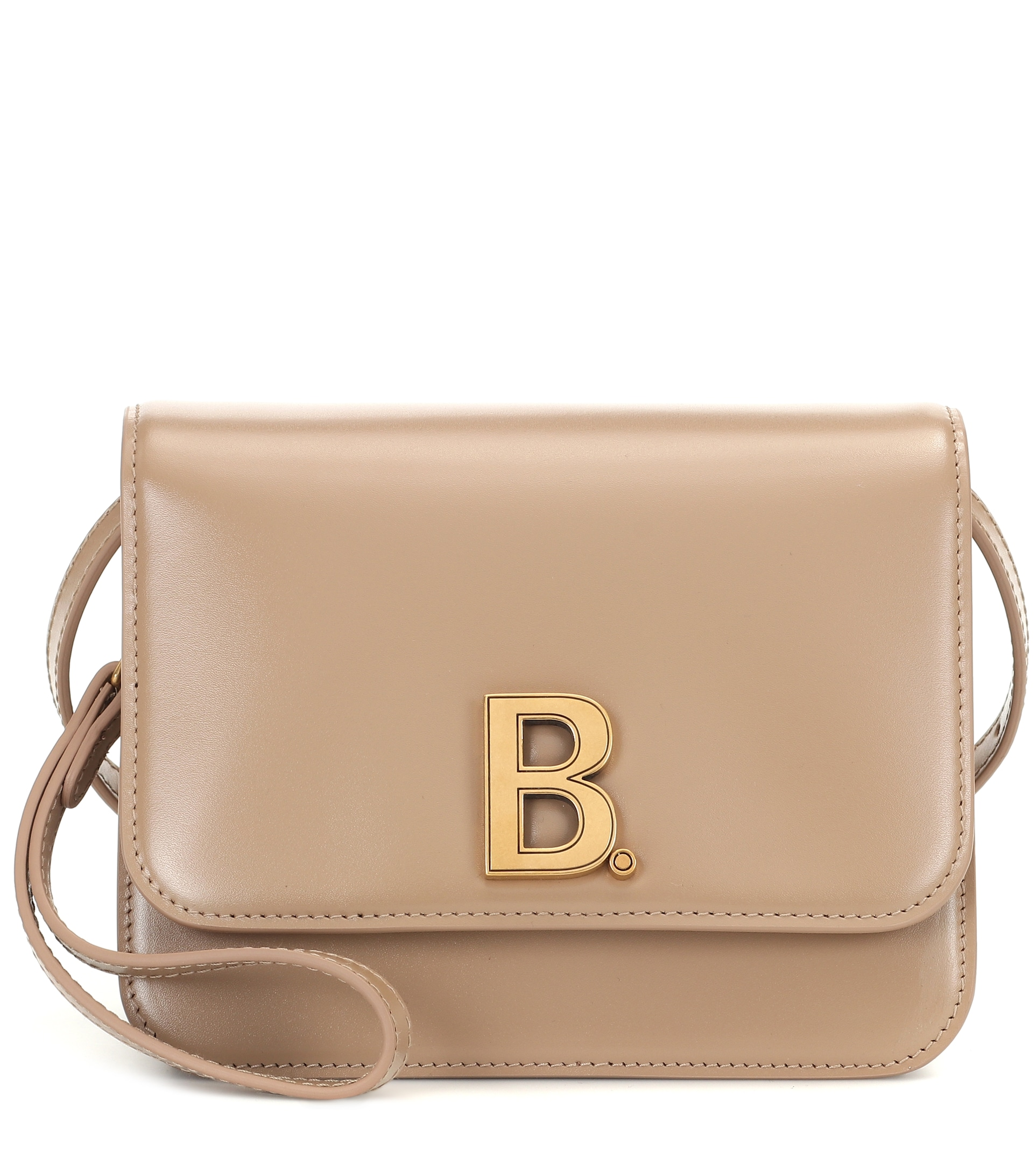 balenciaga-b-leather-shoulder-bag-sand