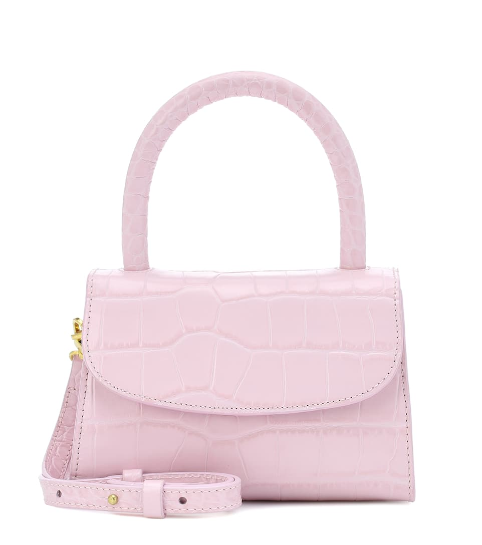 by-far-mini-croc-effect-leather-pink-tote