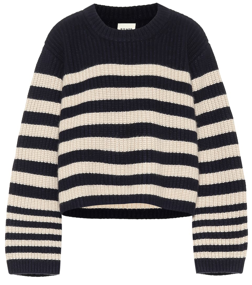 khaite-dotty-striped-cashmere-sweater