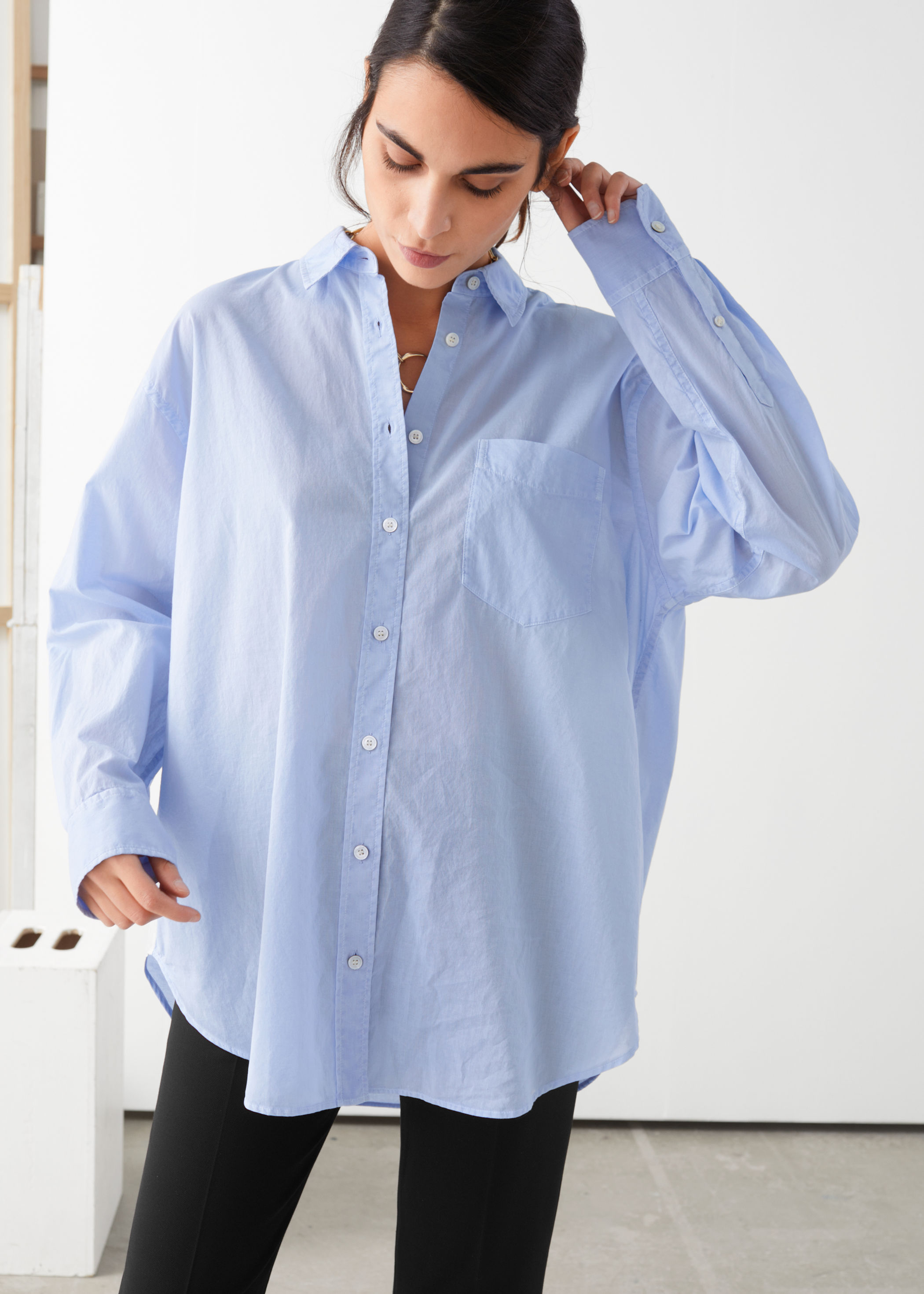 other-stories-oversized-button-up-shirt-blue