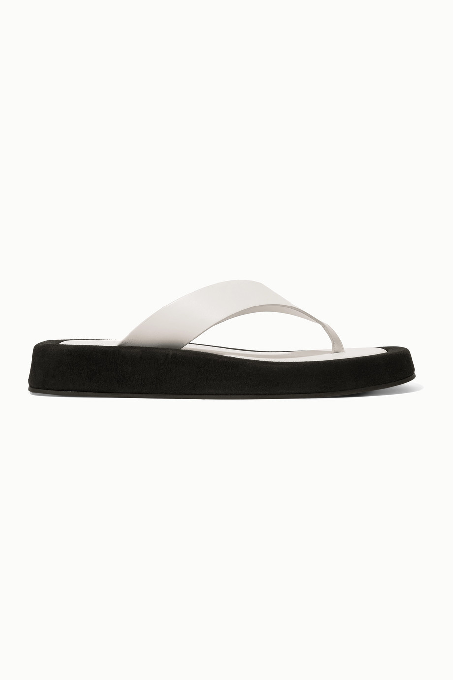 the-row-white-ginza-two-tone-leather-and-suede-platform-flip-flops
