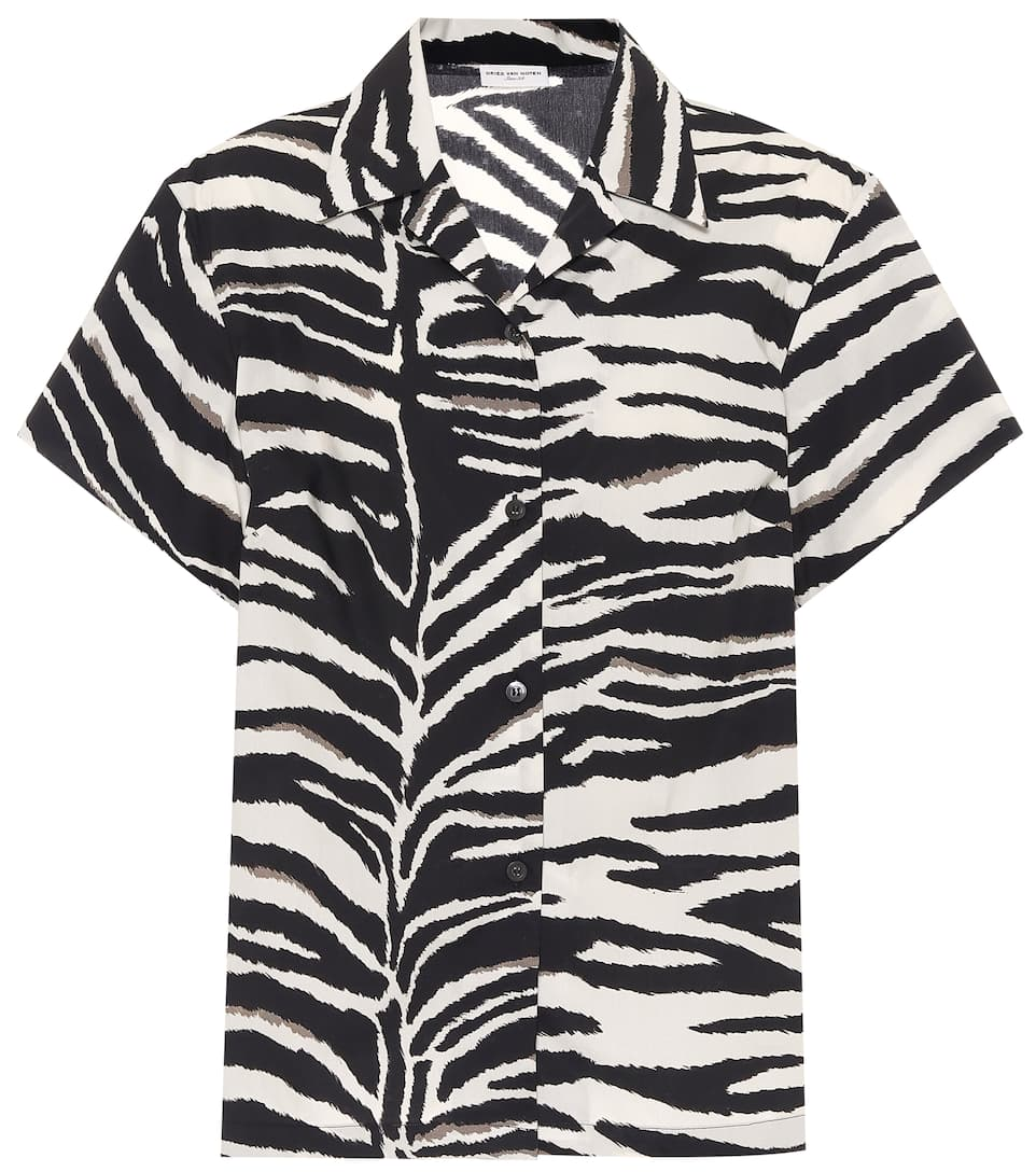 dries-van-noten-zebra-print-cotton-poplin-shirt