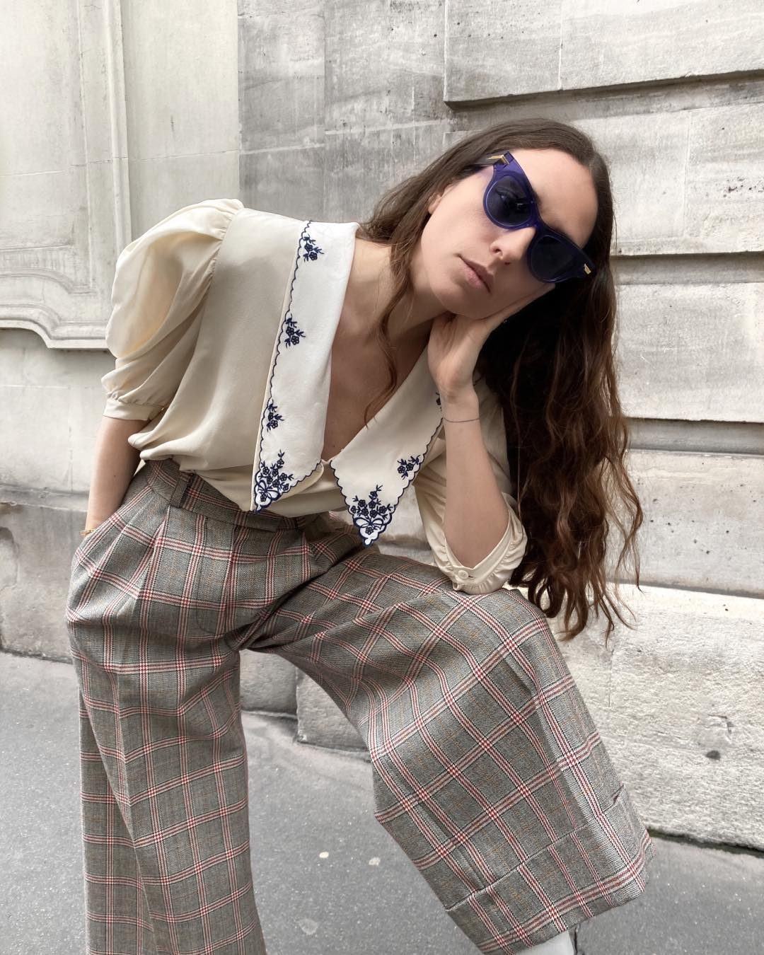 erika-boldrin-miu-miu-exaggerated-collar-silk-blouse-instagram
